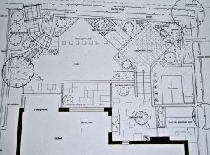 Masterplan - note the diagonal layout which helps to maximise the feeling of space.